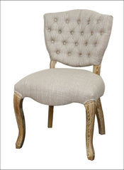 Adrienne Fabric Chair Natural Wood Legs, Rice - YourBarStoolStore + Chairs, Tables and Outdoor