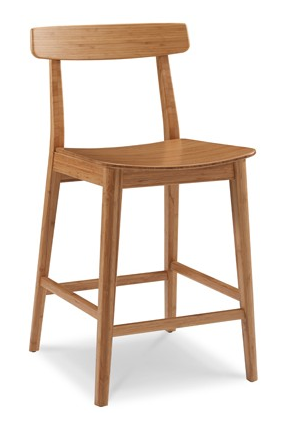 Currant Bamboo Bar Stools Caramelized Classic