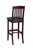 "Regal Seating 24"" Beechwood Bulldog Stool - Upholstered Seat 418u - YourBarStoolStore + Chairs, Tables and Outdoor  - 2"