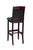 "Regal Seating 24"" Beechwood Bulldog Stool - Upholstered Seat And Back 418usb - YourBarStoolStore + Chairs, Tables and Outdoor  - 2"