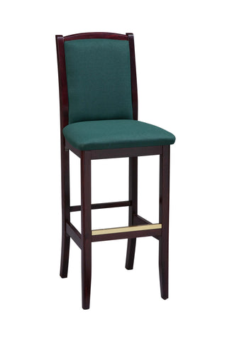 "Regal Seating 24"" Beechwood Bulldog Stool - Upholstered Seat And Back 418usb"