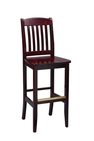 "Regal Seating 24"" Beechwood Bulldog Stool - Wood Seat 418w"