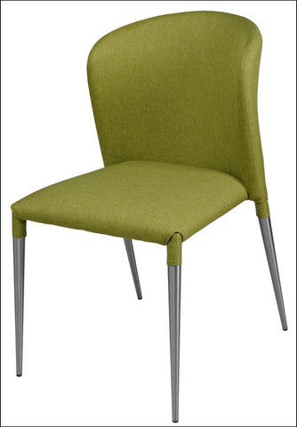 Devin Fabric Chair Brushed Stainless Legs, Limerick