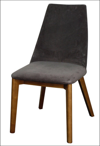 Arden KD Fabric Chair Walnut Legs, Nightfall