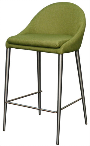 Zane KD Fabric Counter Stool Brushed Stainless Legs, Limerick
