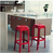 Compamia Fox Polycarbonate Bar Stool Glossy Red ISP037-GRED - YourBarStoolStore + Chairs, Tables and Outdoor  - 3
