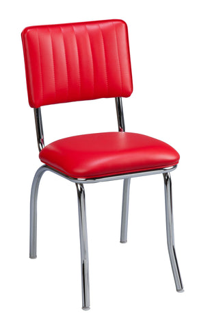 "Regal Seating 18"" Retro Diner Chair - Channel Back 513cb"