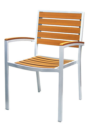 Commercial Chair Model 528AW teak w/ arm