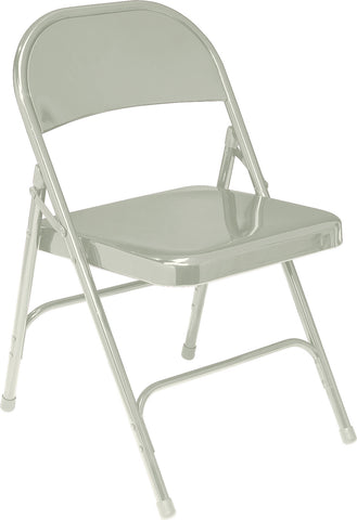 Grey Standard All-Steel Folding Chairs 52