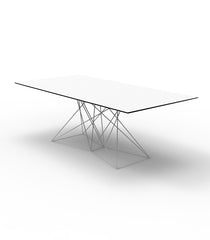 Vondom Faz Table Stainless Steel Base HPL - White