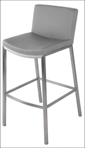 Eddard KD Counter Stool Stainless Steel Frame, Gray