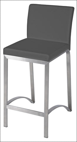 Edward KD Counter Stool Stainless Steel Frame, Gray