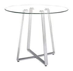 Lemon Drop Counter Table - Chrome