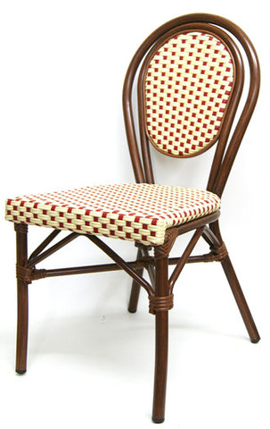 Commercial Chair Model 606SR red wicker