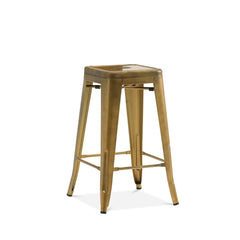 Dreux Vintage Brass Steel Stackable Counter Stool 26 Inch