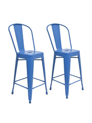 Aeon Garvin Counter Stool  Bar Stool AE3504-26-14-Blue (Set of 2) - YourBarStoolStore + Chairs, Tables and Outdoor