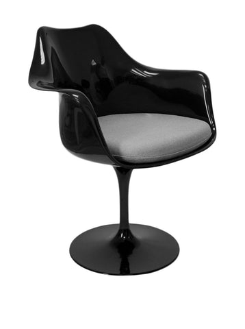 Aeon Amsterdam Chair DC-221-BLK-Grey