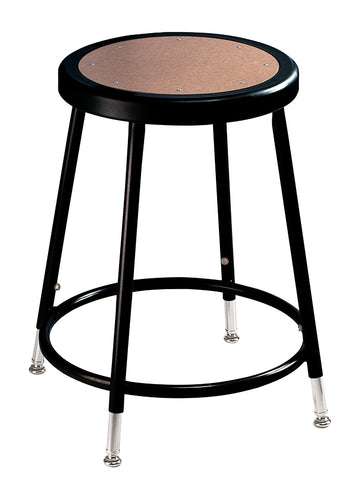 "19-27"" Black Frame Stool Hardboard Seat with ADJ. Height 6218H-10"