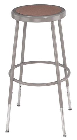 "25-33"" Grey Frame Stool Hardboard Seat with ADJ. Height 6224H"