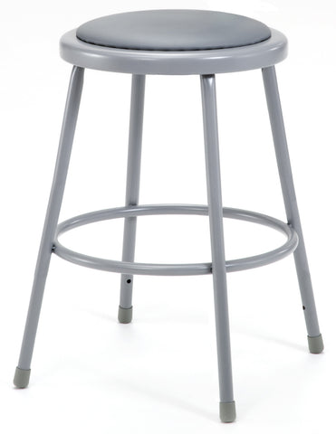 "24"" Grey Frame Stool with Padded Seat 6424"