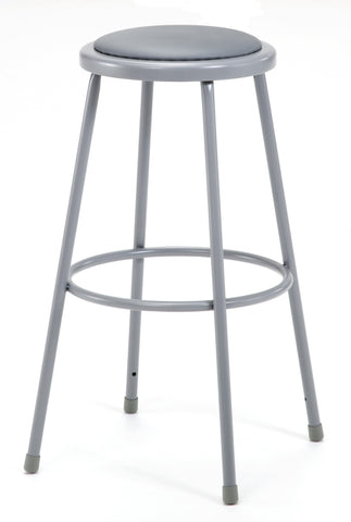 "30"" Grey Frame Stool with Padded Seat 6430"