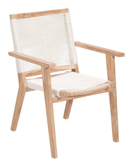 West Port Dining Chair - White Wash & White