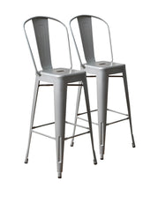 Aeon Garvin Barstool  Bar Stool AE3504-30-8-Silver (Set of 2) - YourBarStoolStore + Chairs, Tables and Outdoor