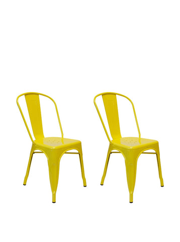 Aeon Garvin-1 Chair AE3535-106-Yellow (Set of 2)