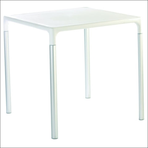 Compamia Mango Alu Square Table White 28 inch ISP758-WHI
