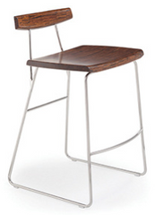 City Lights Paris Bamboo Counter  Stools Exotic Cognac & Steel - YourBarStoolStore + Chairs, Tables and Outdoor  - 1