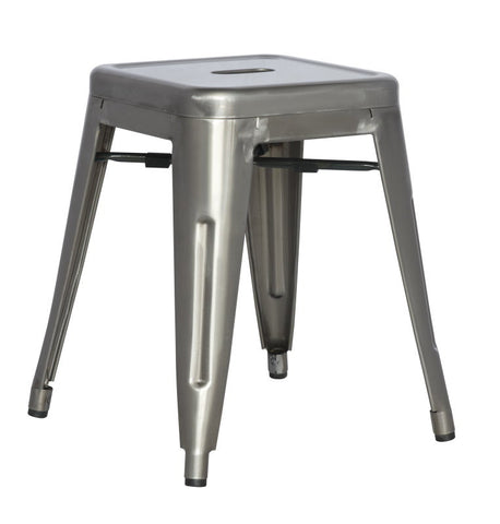 Chintaly Galvanized Steel Side Chair 8018-SC-GUN Set of 4