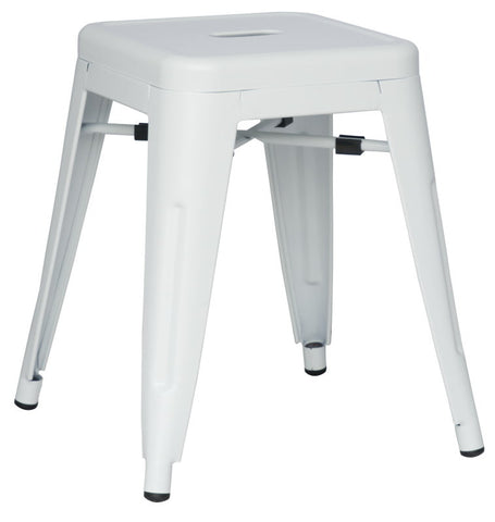 Chintaly Galvanized Steel Side Chair 8018-SC-WHT Set of 4
