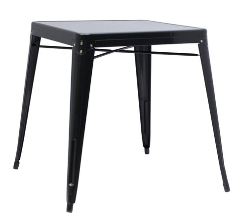 Chintaly Galvanized Steel Dining Table 8029-DT-BLK