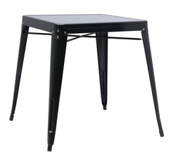 Chintaly Galvanized Steel Dining Table 8029-DT-BLK - YourBarStoolStore + Chairs, Tables and Outdoor