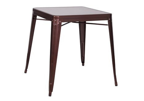 Chintaly Galvanized Steel Dining Table 8029 DT COP