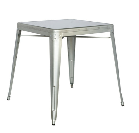 Chintaly Galvanized Steel Dining Table 8029-DT-SLV