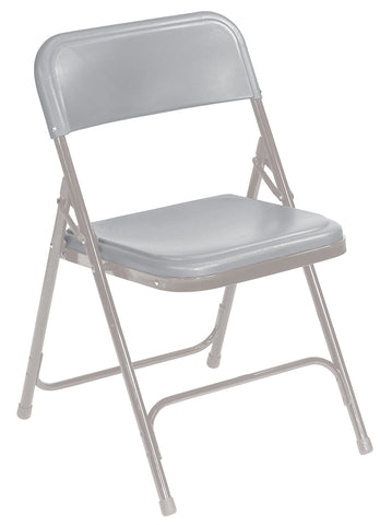 Grey on Grey Premium Lightweight Plastic Folding Chairs 802