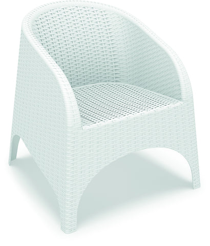 Compamia Aruba Resin Wickerlook Chair White ISP804-WH