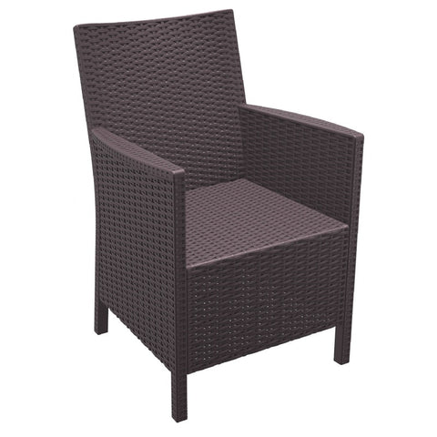 Compamia California Resin Wickerlook Chair Brown ISP806-BR