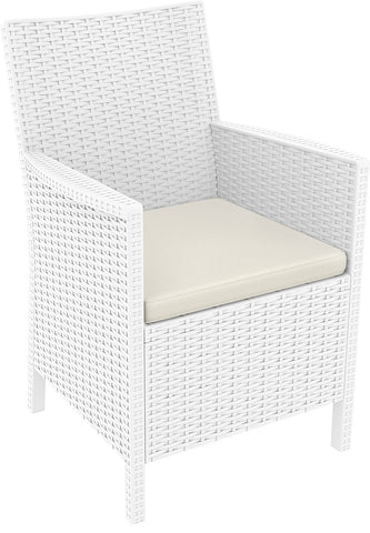 Compamia California Resin Wickerlook Chair White ISP806-WH