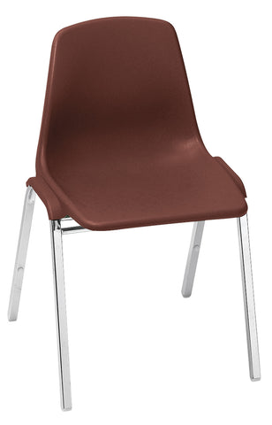 Burgundy Poly Shell on Chrome Stack Chairs (KD) 8118