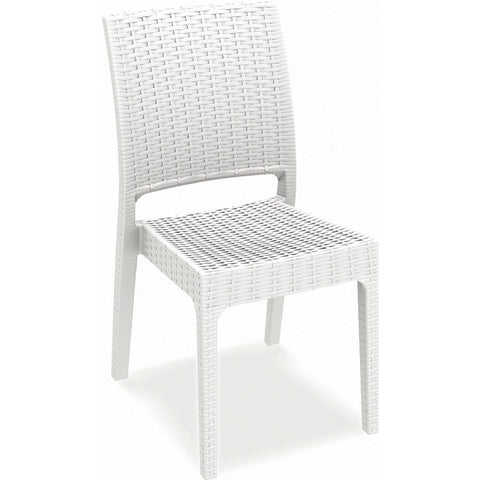 Compamia Florida Resin Wickerlook Dining Chair White ISP816-WH