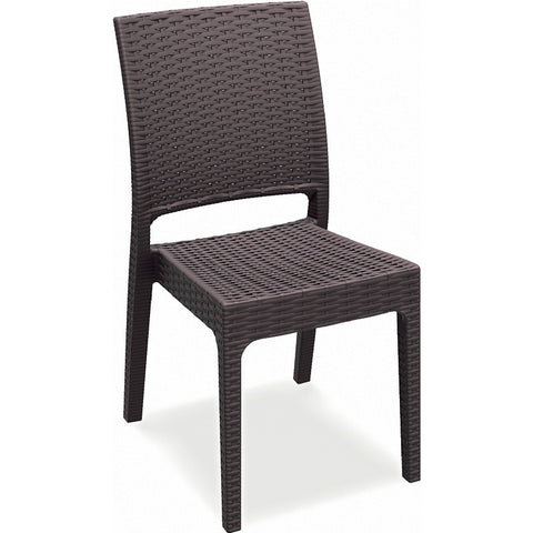 Compamia Florida Resin Wickerlook Dining Chair Brown ISP816-BR