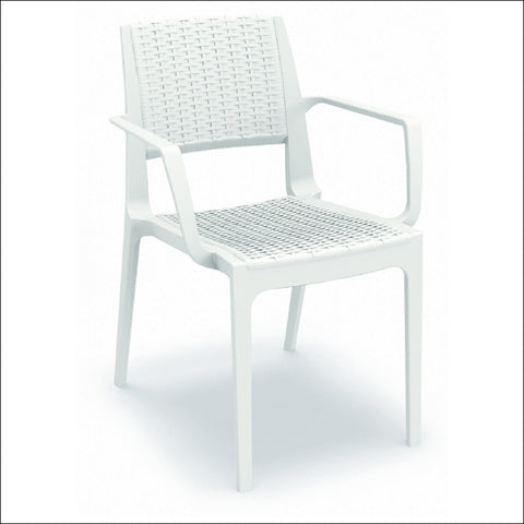 Compamia Capri Resin Dining Arm Chair White ISP820-WH