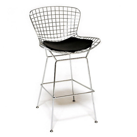 ModMade Chrome Wire Counter Stool MM-8033LS-Black