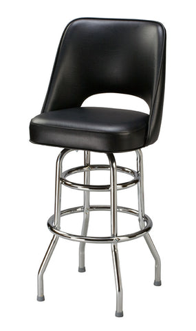 "Regal Seating 24"" Cut-Out Back Bucket Stool, Double Ring Base 85-1106"