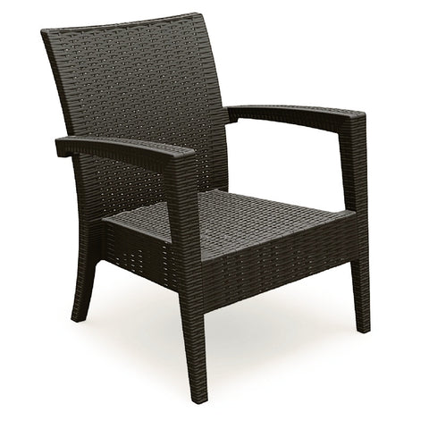Compamia Miami Resin Club Chair Brown ISP850-BR