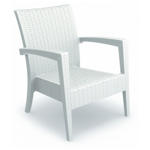 Compamia Miami Resin Club Chair White ISP850-WH