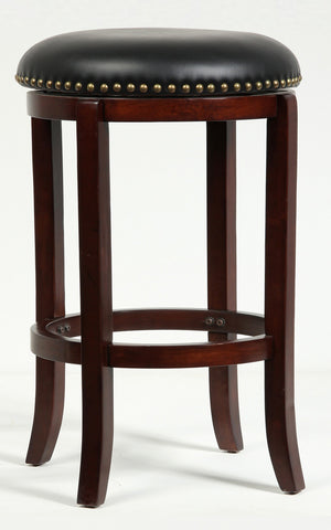 Boraam 24Inch Cordova Swivel Stool Cherry 33224