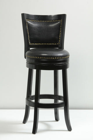 Boraam 29Inch Bristol Swivel Stool Black 42529